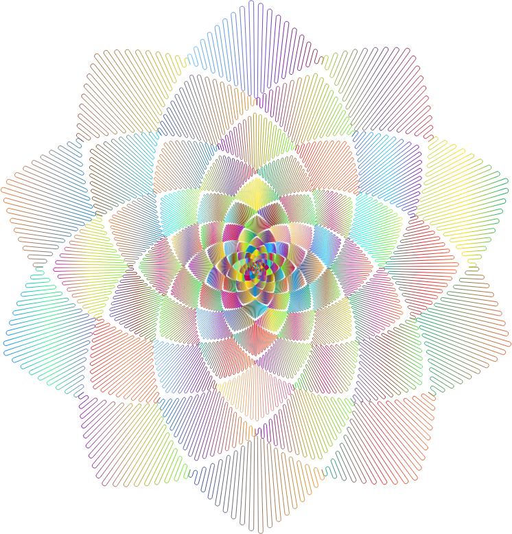 Geometric Rosette Design Polyprismatic No BG