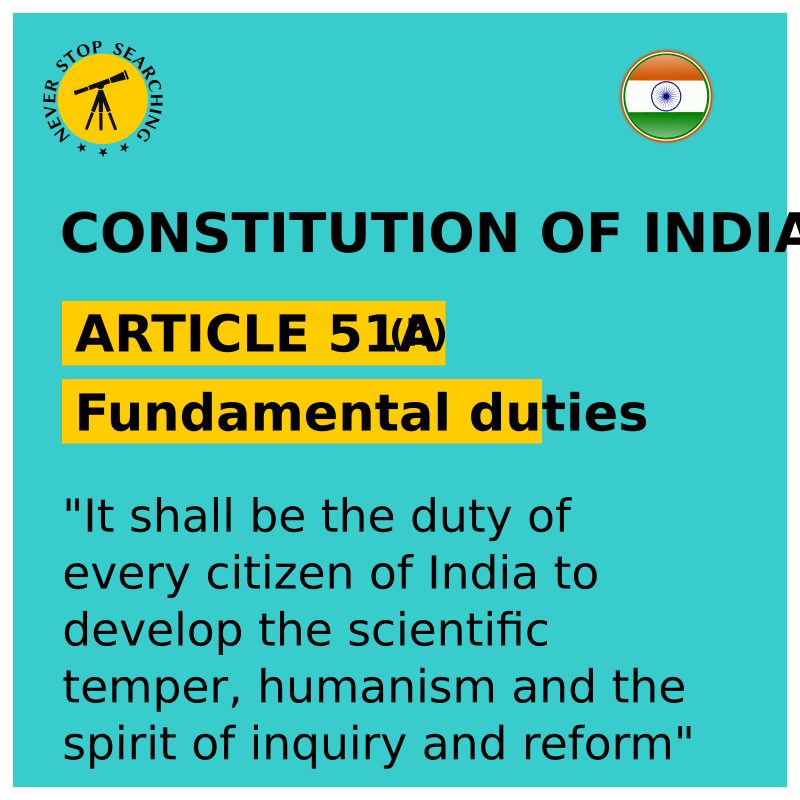 Indian Constitution - Fundamental Duties - Excerpt