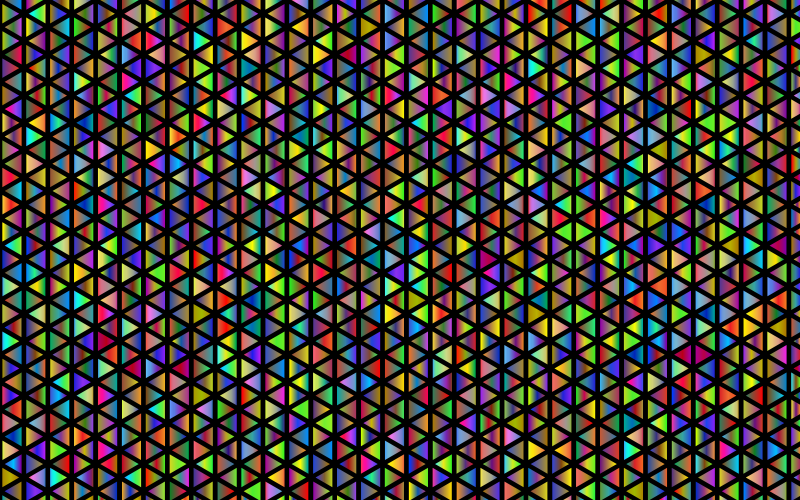 Abstract Polyprismatic Triangular Pattern With Black