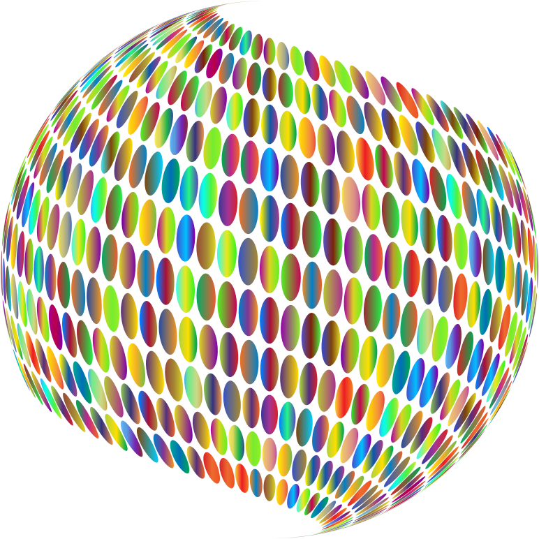 Stylized Circles Sphere Polyprismatic