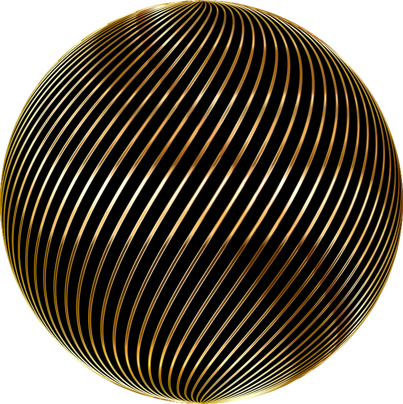 Spiral Sphere Gold