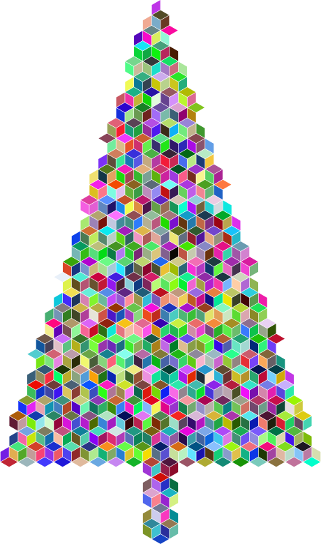 Christmas Tree Cubes Prismatic