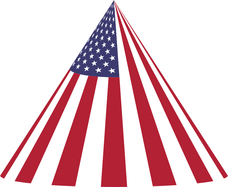 American Flag Cone