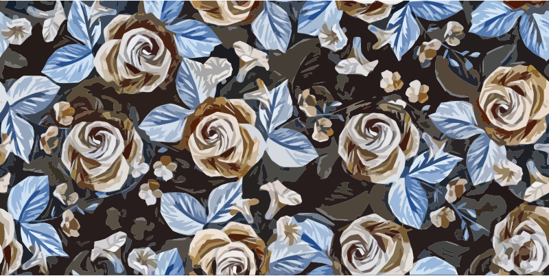 Floral Roses Background