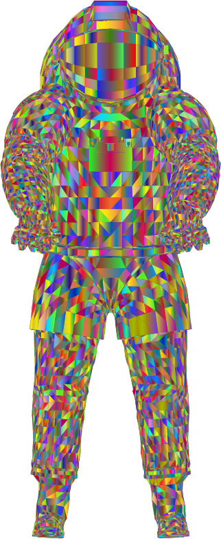 Nasa Spacesuit 3D Polyprismatic