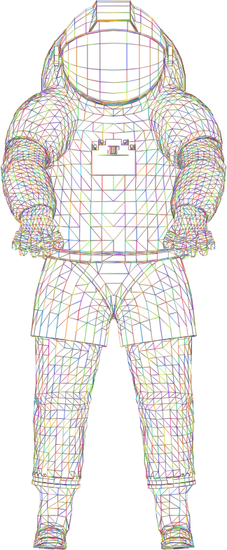 Nasa Spacesuit 3D Wireframe Polyprismatic