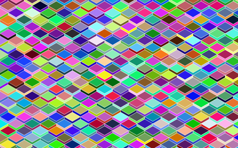Abstract Geometric Cubes Background