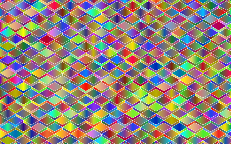 Abstract Geometric Cubes Background Polyprismatic