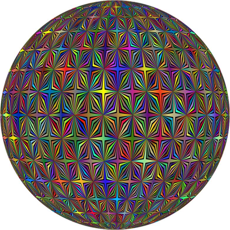 Abstract Hollow Diamonds Pattern Type II Polyprismatic Orb