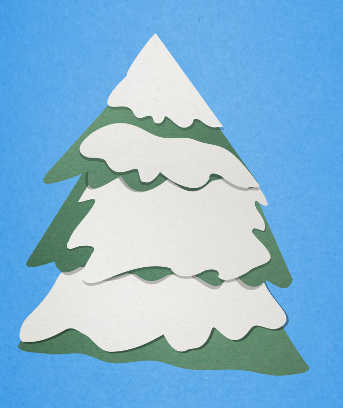 Rudolph Christmas Tree Paper