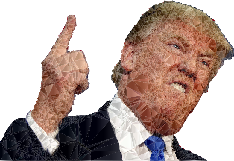 Fed Up Trump Low Poly