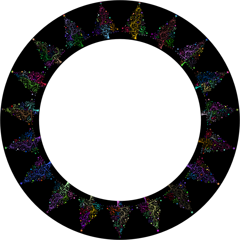 Starry Christmas Tree Frame Prismatic