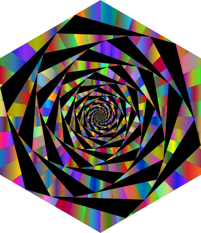 Hypnotic Hexagonal Maelstrom Polyprismatic