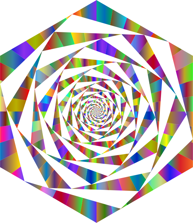 Hypnotic Hexagonal Maelstrom Polyprismatic No BG
