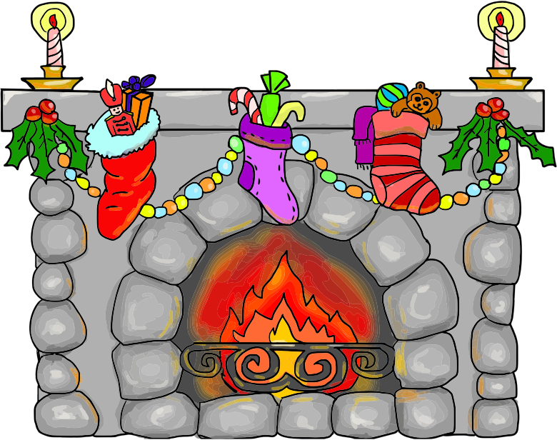 Christmas Fireplace By LillyCantabile