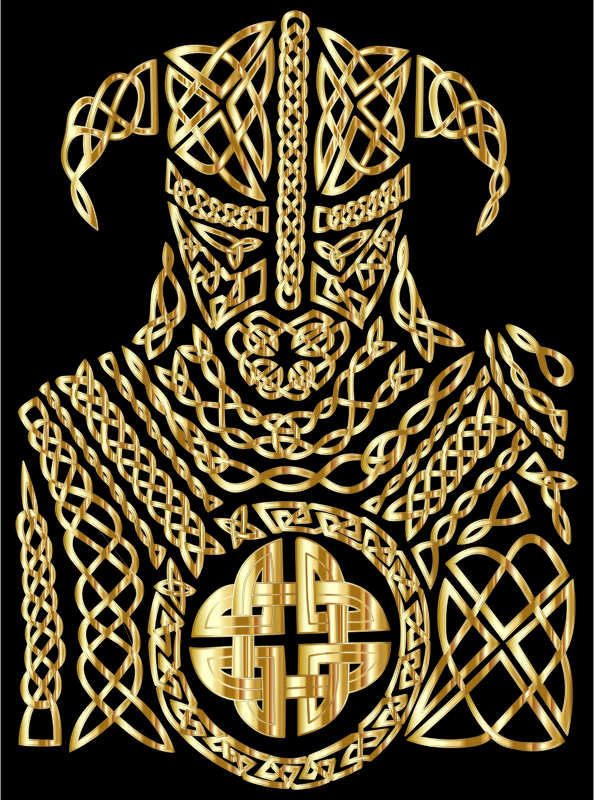 Celtic Knot Viking By 13smok Gold