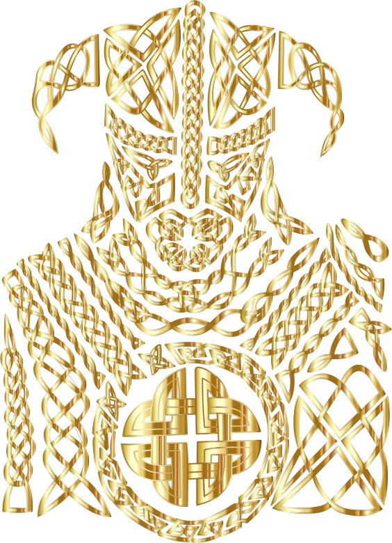 Celtic Knot Viking By 13smok Gold No BG