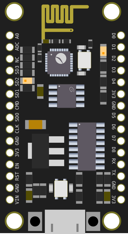 ESP based development board