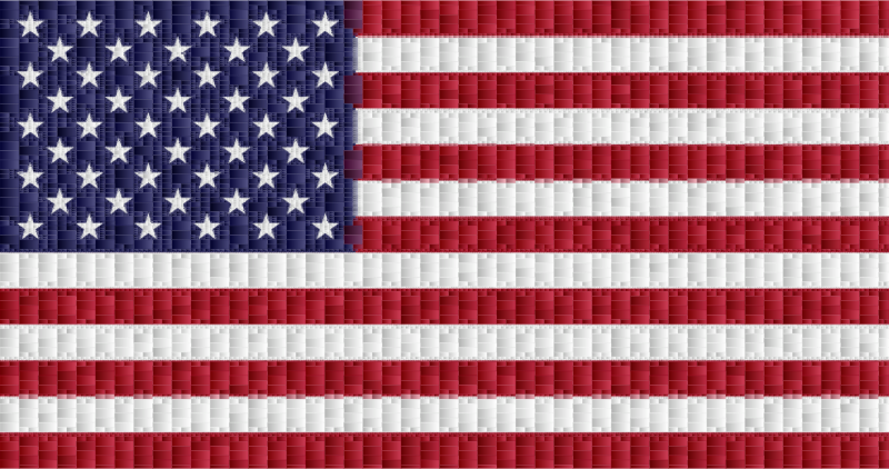 American Flag Rectangular