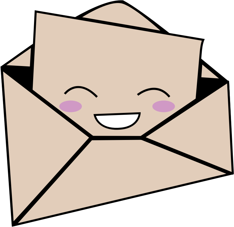 Kawaii Letter And Envelope