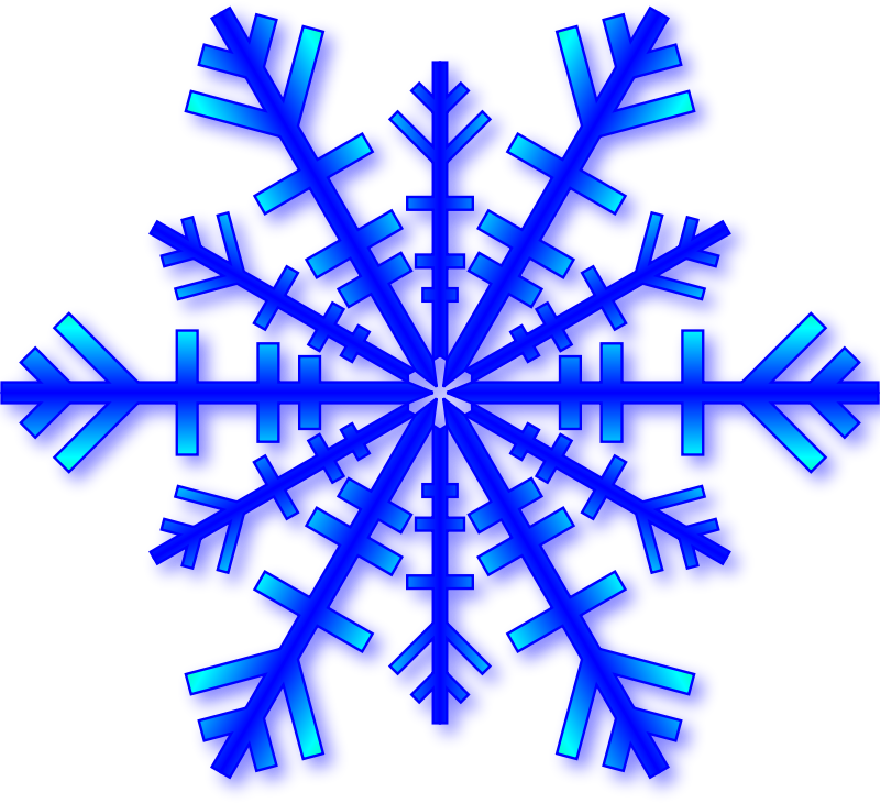 Blue Snowflake with Shadow