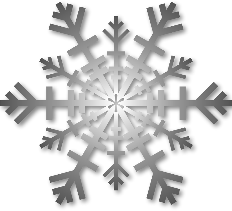 Silver Snowflake with Shadow