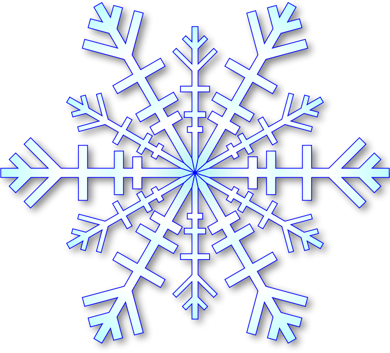 Lightblue Snowflake with shadow
