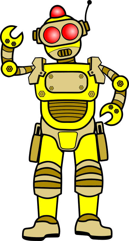 Retro Robot - Gold