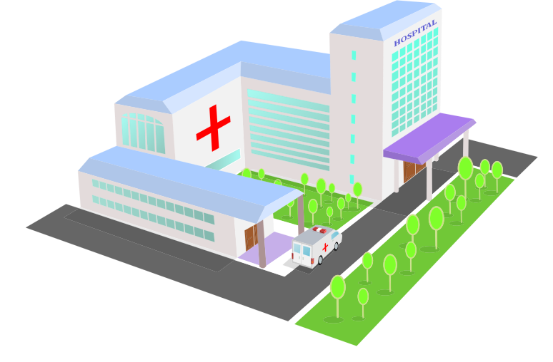 Isometric 3D Perspective Hospital