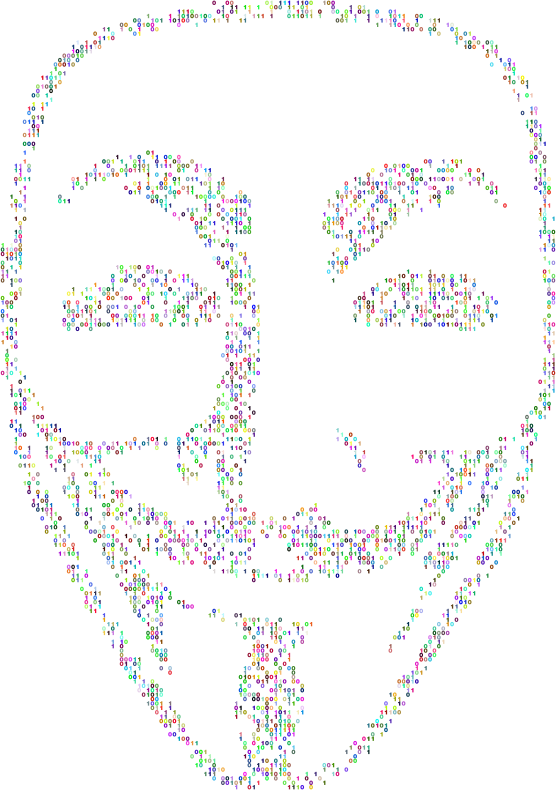 Guy Fawkes Mask Binary Prismatic