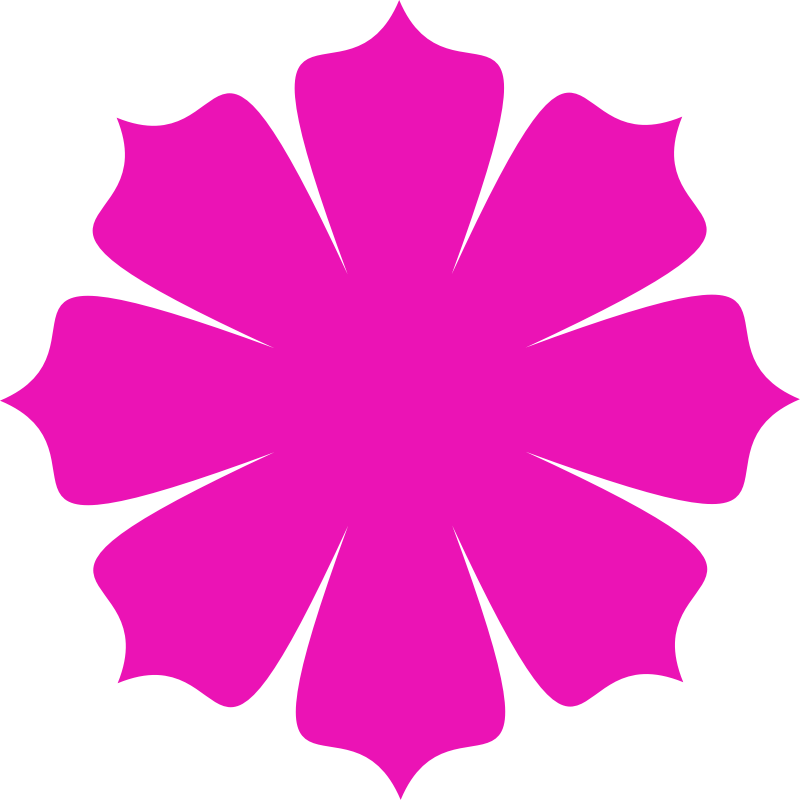 Pink flower Shape