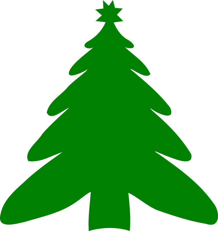 christmas tree silhouette green