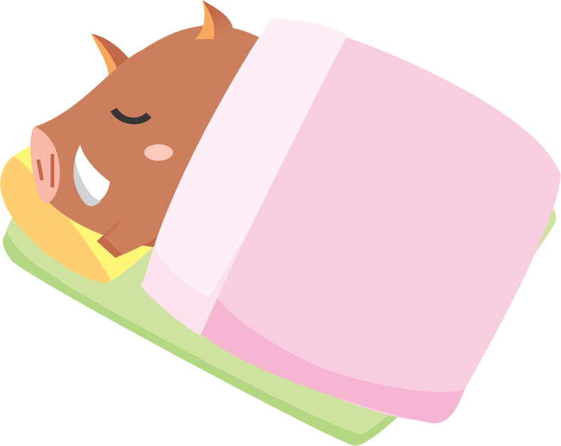 Sleeping boar