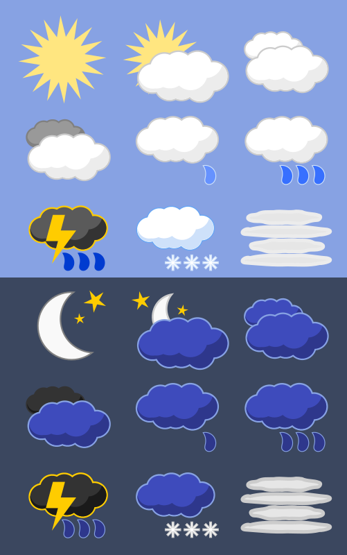 Weather Icons Set - Day and Night