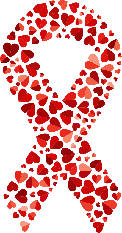 Red Shades Hearts Ribbon