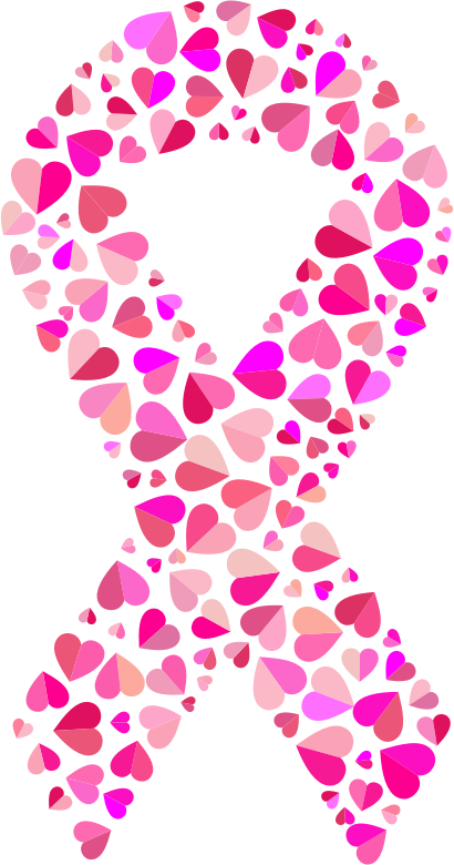 Pink Hearts Ribbon