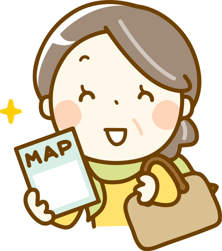 Woman with map