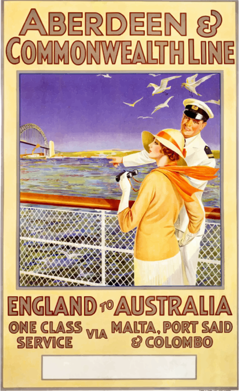 Aberdeen And Commonwealth Line Vintage Poster