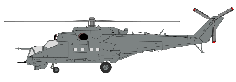 "Mil Mi-24 - Hind in ""factory gray"""