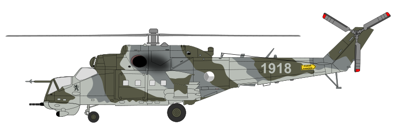 "Mil Mi-24 - ""Hind"" in Czech Air Force camouflage"