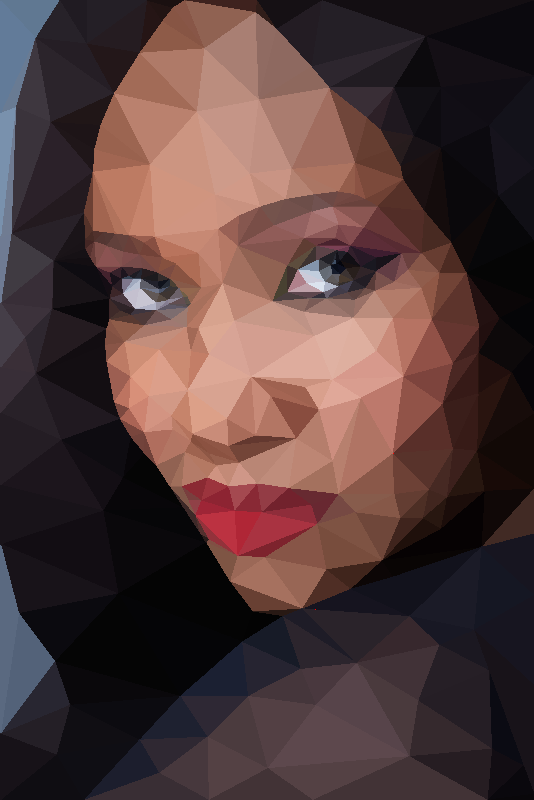 low poly portrait 2
