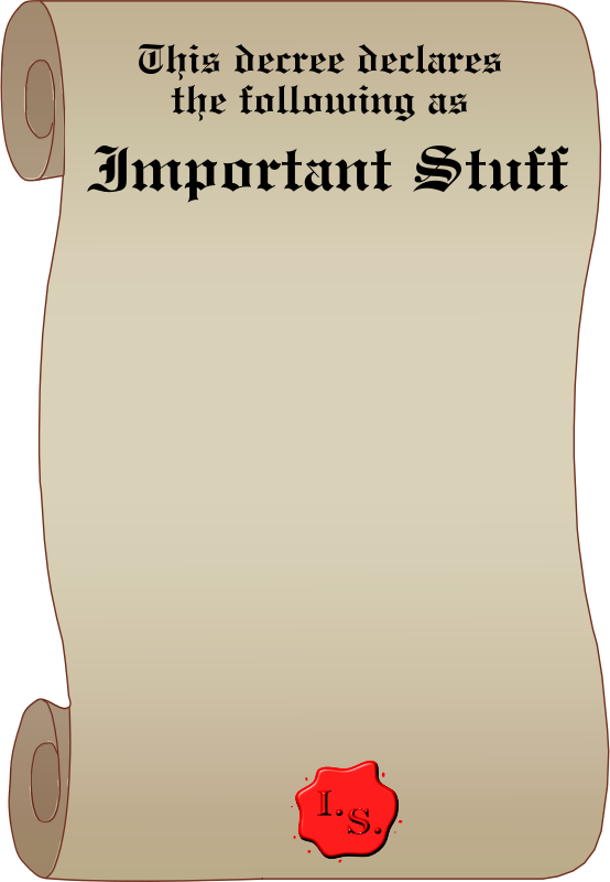Important Stuff Decree
