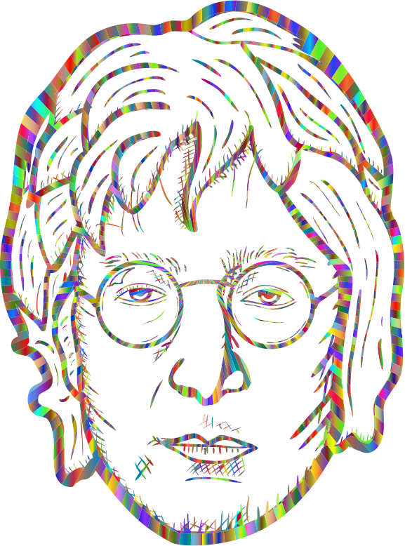 John Lennon Portrait By blambasa Polyprismatic