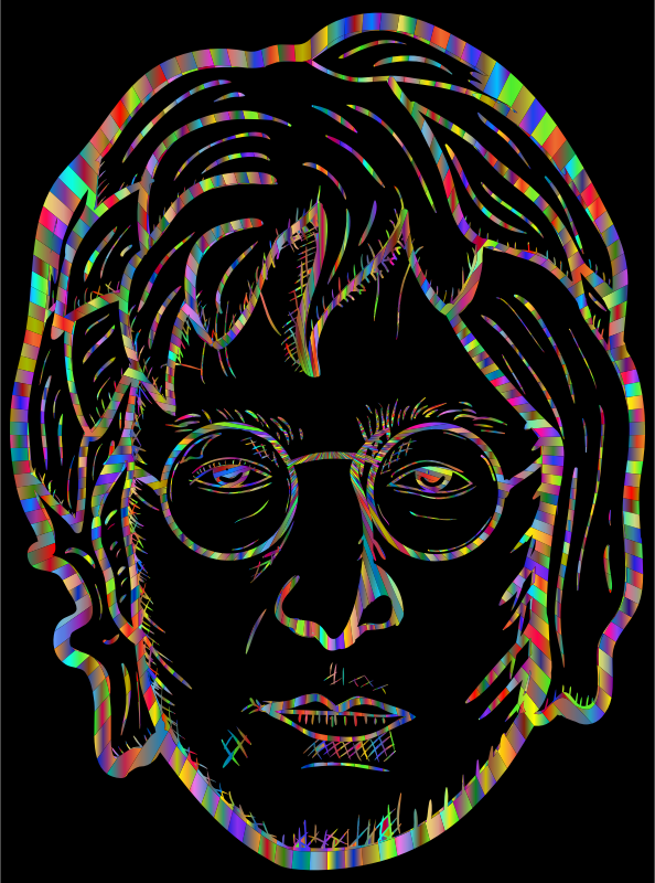 John Lennon Portrait By blambasa Polyprismatic With BG