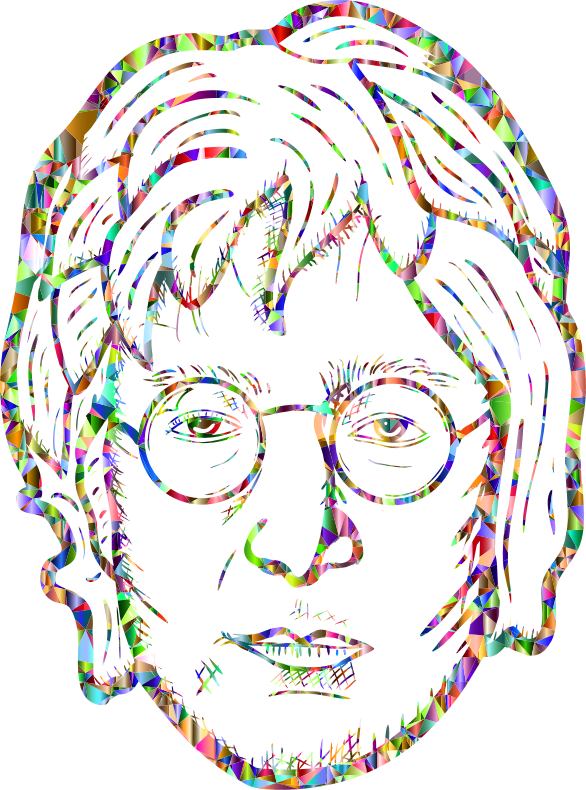 John Lennon Portrait By blambasa Vivid Chromatic Low Poly