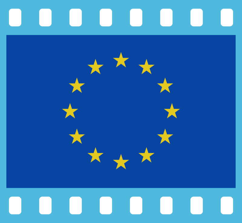 Flag of Europe in a 35 mm