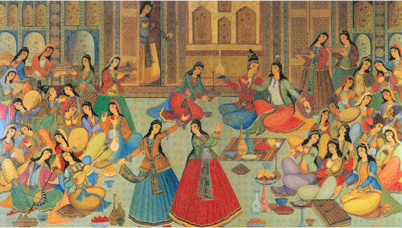 A Persian Banquet Of Song And Dance