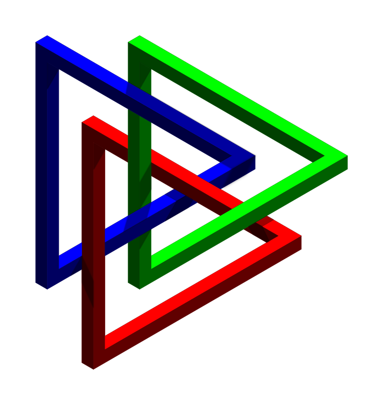 intertwined impossible triangles
