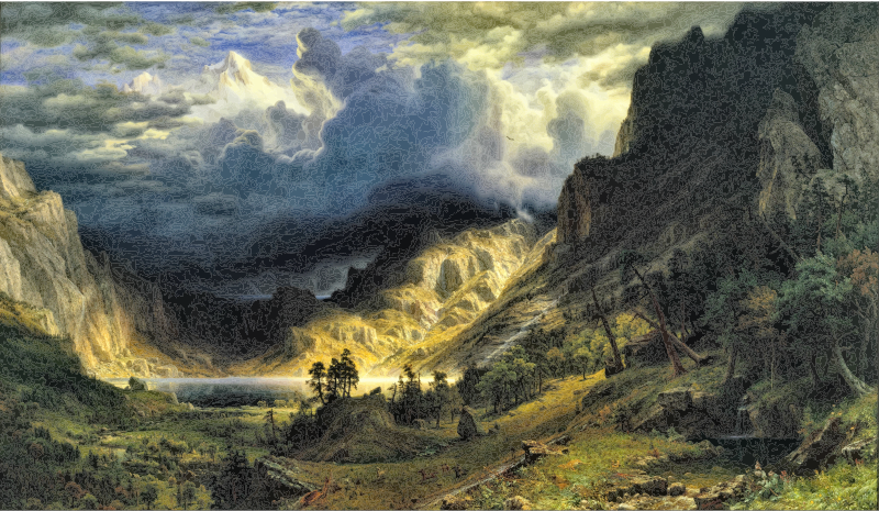 A Storm In The Rocky Mountains Mt Rosalie By Albert Bierstadt Very High Quality