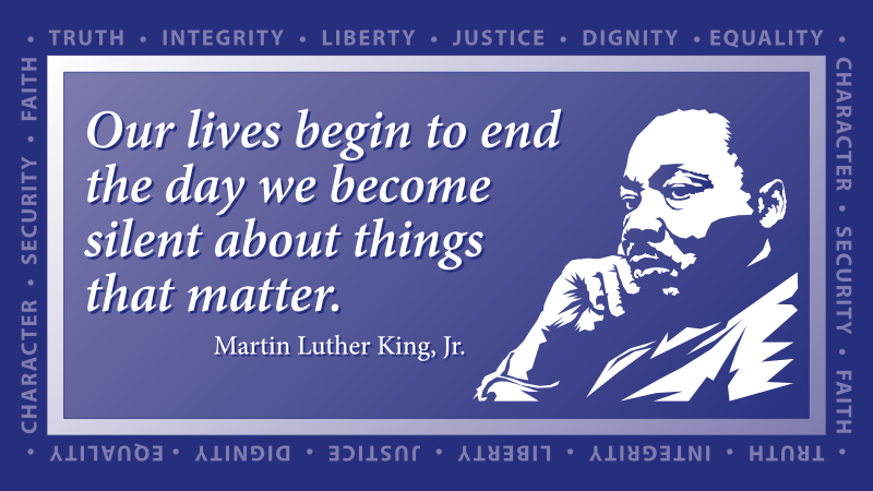 Martin Luther King Values
